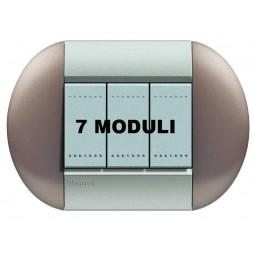 BTICINO LIVINGLIGHT PLACCA TONDA 7 MODULI LNB4807TB