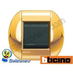 BTICINO LIVINGLIGHT PLACCA TONDA 2 MODULI LNB4802OC