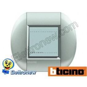 BTICINO LIVINGLIGHT PLACCA TONDA 2 MODULI LNB4802TE