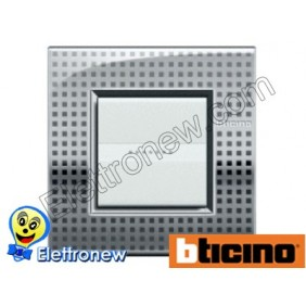 BTICINO LIVINGLIGHT PLACCA AIR 2 MODULI LNC4802NE