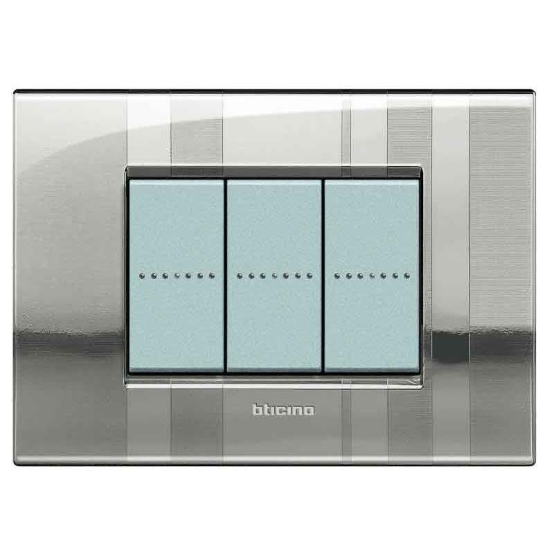 Bticino Livinglight Placca Air 3 Moduli Stripes Lnc4803sp