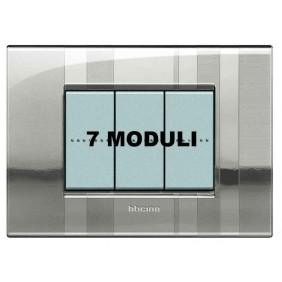 BTICINO LIVINGLIGHT PLACCA AIR 7 MODULI LNC4807SP