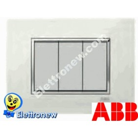 ABB MYLOS PLACCA SQUARE LUCENT 3 MODULI 2CSY0301QLP