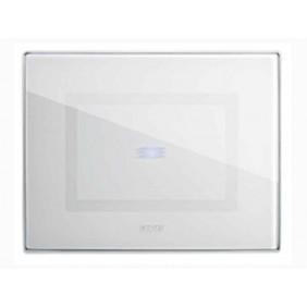 Placca Ave Touch in vetro 3 moduli Per 1 comando a scomparsa colore Bianco finitura lucida 44PVTC01B