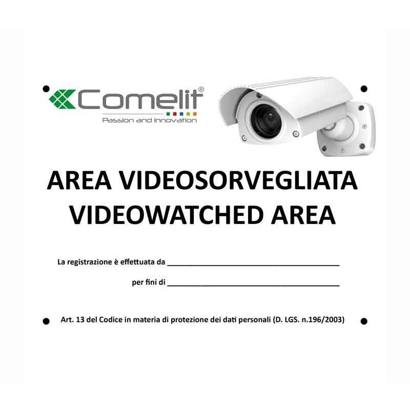Cartello Comelit Area Videosorvegliata