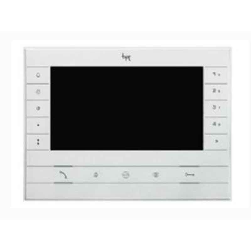 Videocitofono a colori BPT Futura viva voce display 7 pollici LCD touch bianco