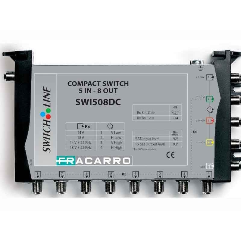 Multiswitch Fracarro5x16 LNB MSW alimentati da decoder, ingresso DC per preamplificatore TV