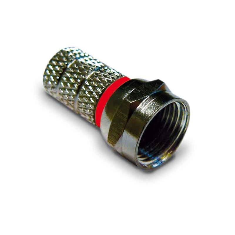 Connettore per cavi satellitari e per tv terrestre tipo F a vite per cavo 5,0mm
