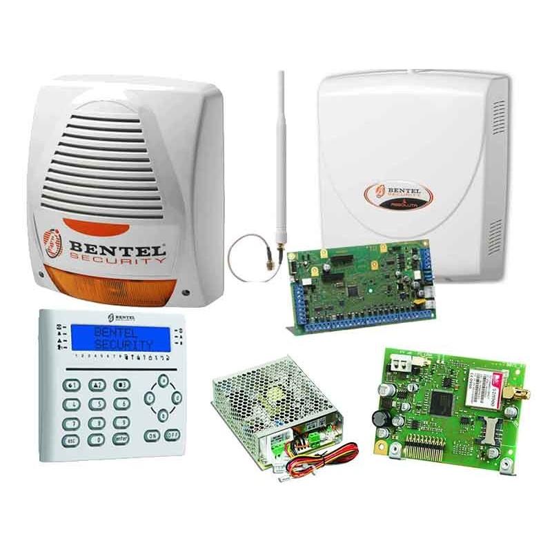 Kit Antifurto per casa Bentel con centrale Absolute,sirena,combinatore GSM e tastiera