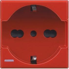 Bticino Axolute Schuko 10/16A Red socket H4140/16R
