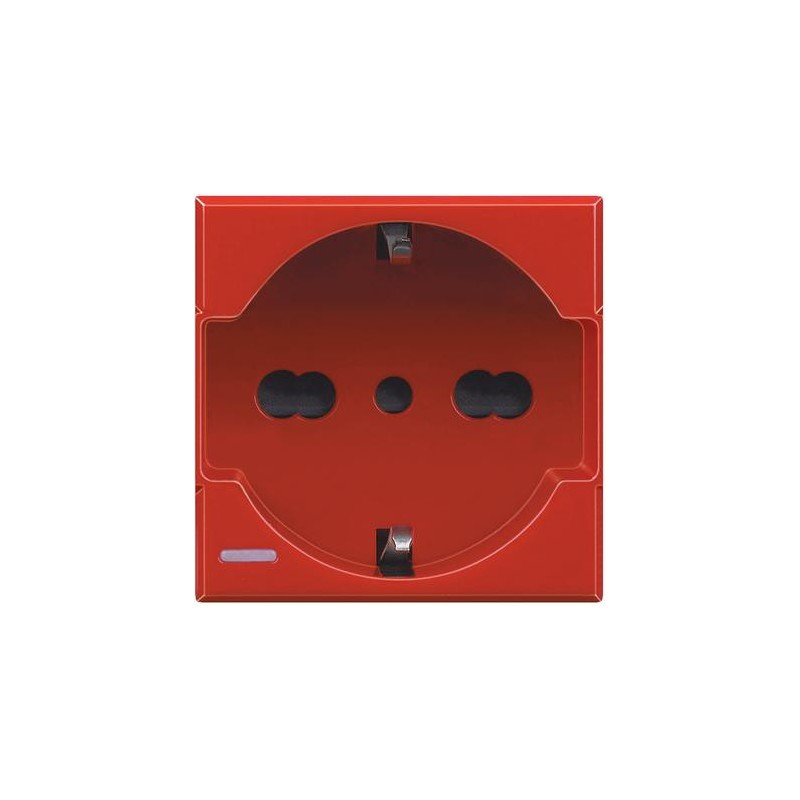 BTICINO AXOLUTE SOCKET SCHUKO 10/16A RED H4140/16R
