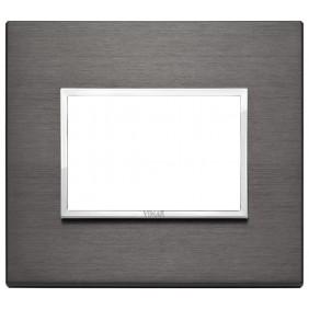Plate Vimar Eikon Evo 3 modules lava grey 21653.03