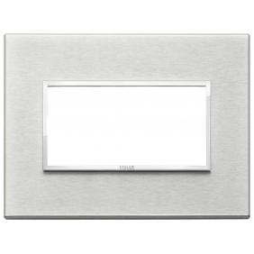 Plate Vimar Eikon Evo 4 modules Grey Next 21654.02