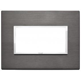 Plate Vimar Eikon Evo 4 modules Grey Lava 21654.03