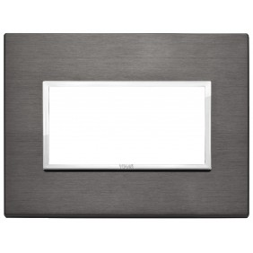Vimar Eikon Evo plate 4 modules lava grey 21654.03
