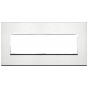 Plate Vimar Eikon Evo 7 modules Aluminum Brilliant 21657.01