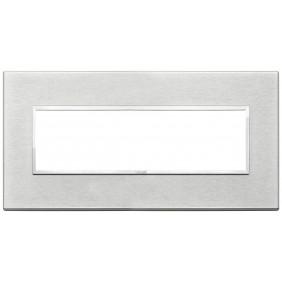 Plate Vimar Eikon Evo 7 modules, Grey Next 21657.02
