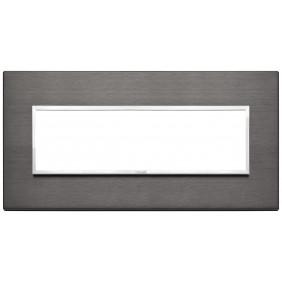 Vimar Eikon Evo plate 7 modules lava grey 21657.03