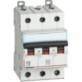 Bticino circuit breaker 3P C 10A 10kA 3 modules FH83C10