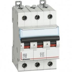Bticino interruttore magnetotermico 3P C 10A 10kA 3 moduli FH83C10