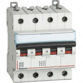 Bticino circuit breaker-4P D 10A 10kA 4 modules FH84D10
