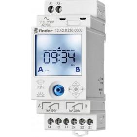 Finder interruttore orario astronomico NFC 2 contatti 12.A2.8.230