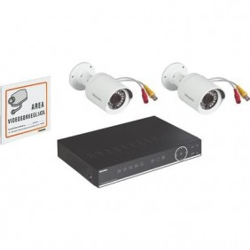 Kit videosorveglianza Bticino 2 telecamere 1 videoregistratore 4 ingressi