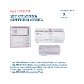 Basic Kit system Urmet column Sithesi Steel 1783/709