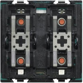 Actuador Axolute con 1 relé con el botón de control de Bticino H4671/1