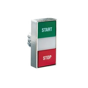 Dual push button LOVATO bright series 8LM red-green 8LM2TBL7123