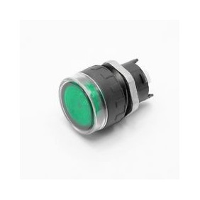 Button LOVATO bright series 8LM 22mm green 8LM2TBL103