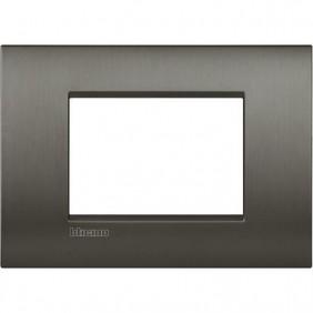 Bticino LivingLight AIR Níquel cepillado de 3 plazas LNC4803NIS