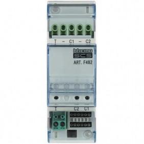Interfaccia Bticino per 2 linee contatti elettromagnetici NC F482
