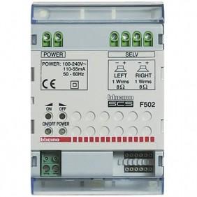 Amplificatore stereo Bticino impianto BUS SCS 4 moduli F502