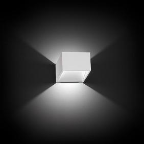 Applique Nobile a parete LED 7,5W 3000K verniciato bianco DL004/BI