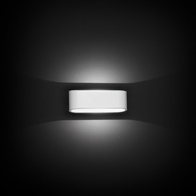 Applique Nobile a parete LED 7,5W 3000K verniciato bianco DL005/BI