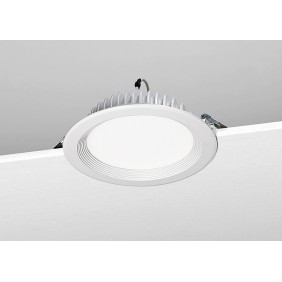 Built-Noble LED 20W light 3000K, painted white E26/3K