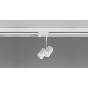 Proiettore Nobile LED 2X5W luce 3000K verniciato bianco R27/3K/40