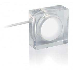 Faretto Nobile 2W quadrato luce 3000K a soffitto/parete 260/3K/S