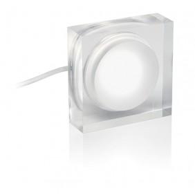 Faretto Nobile 2W quadrato luce 3000K a soffitto/parete 261/3K/S