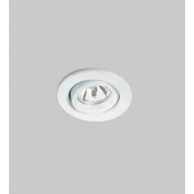 Faretto Nobile incasso orientabile bianco a soffitto foro 88mm 4004/BI