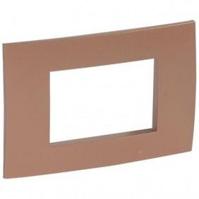 Plaque Legrand Vela quadra copper metallic 3 modules 685771