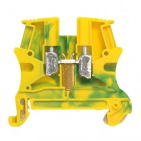 Morsetto Legrand 2,5mmq attacco DIN colore G/V 037170