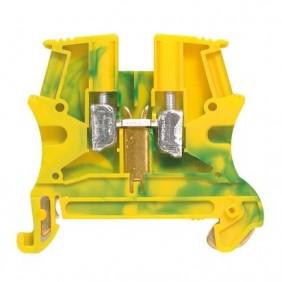 Morsetto Legrand 4mmq attacco DIN colore G/V 037171