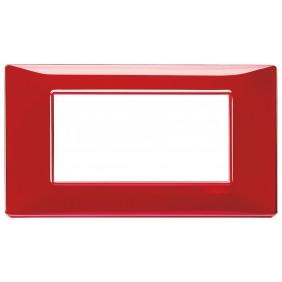 Vimar Plana placca 4 moduli colore rubino 14654.51