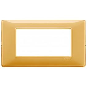 Vimar Plana placca 4 moduli colore Reflex ambra...