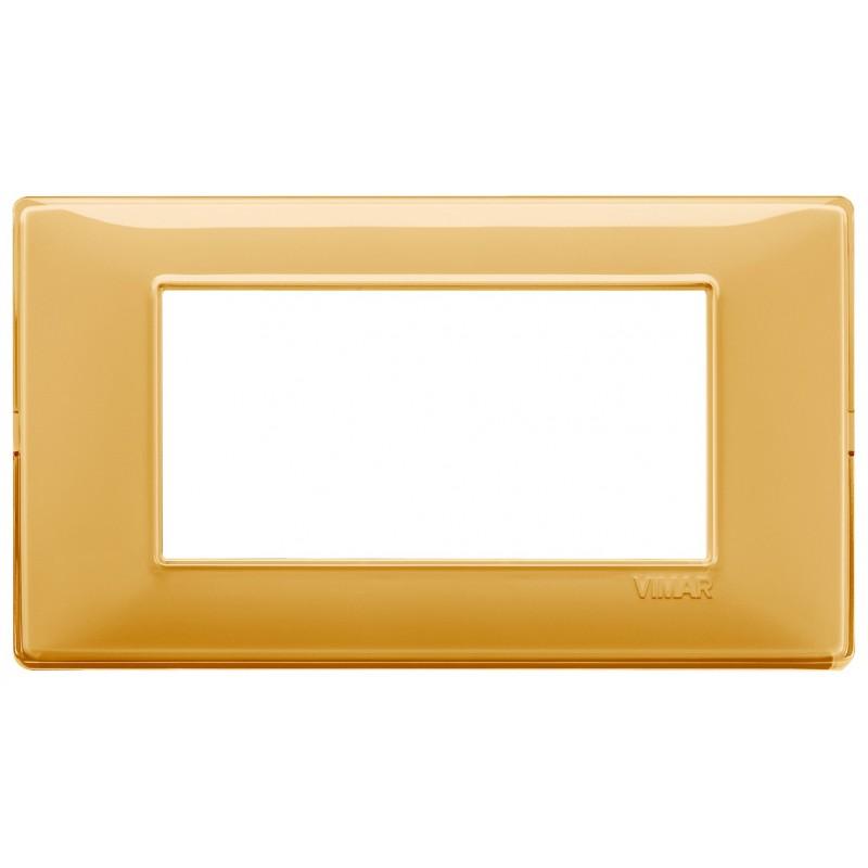 Vimar Plana placca 4 moduli colore Reflex ambra 14654.43