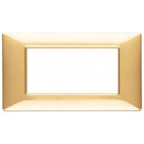Vimar Plana placca 4 moduli colore oro lucido...