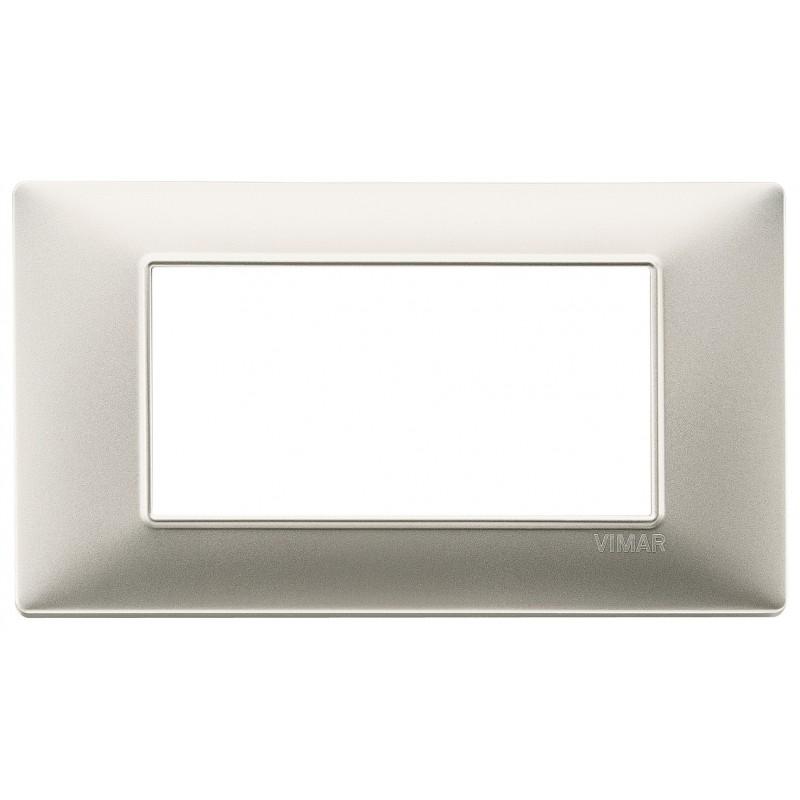 Vimar Plana placca 4 moduli colore nichel opaco 14654.21