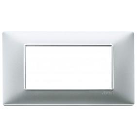 Vimar Plana placca 4 moduli colore argento...